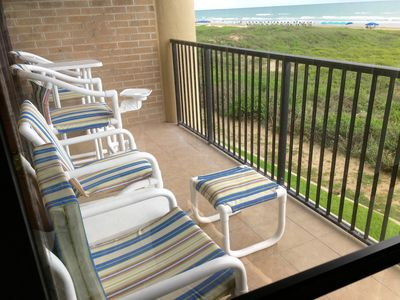 Relax on the beachfront balcony sipping your favorite beverage.