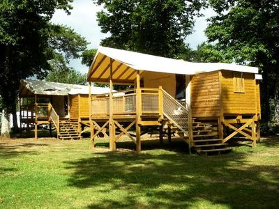 Photo for Camping Port Mulon *** - Ecolodge on piles 3 Rooms 4 Persons