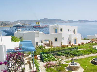 Photo for The most beautiful view of Patmos, 900m from the port of Skala