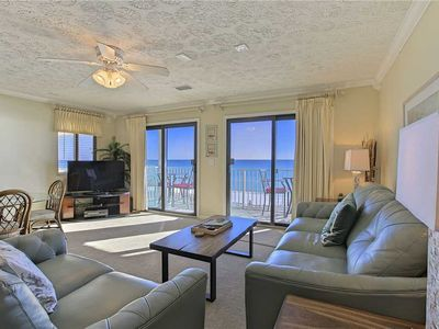 Photo for Crystal Villas A5 - Gulf Front! Free Beach Service! Heated Community Pool!