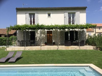 Photo for Nice house with pool in Bédarrides near Avignon, near the center on foot