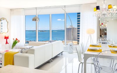 Photo for OVERLOOKING THE OCEAN, CORNER UNIT, W RESIDENCES. FREE: SPA/GYM/POOL/50Mb WI-FI