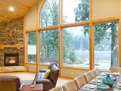 Photo for Low Bank Lakefront Lodge Near Mt Baker, Boat/Dock, Hot Tub, Large Yard, Fire Pit