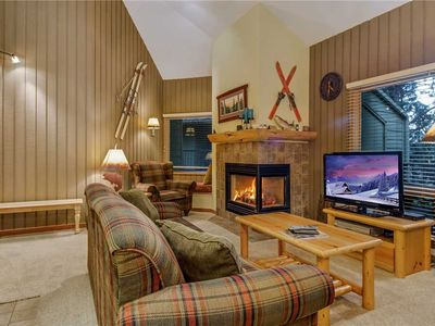 Photo for Private, two bedroom condo in Bend with gas fireplace and access to fitness center.