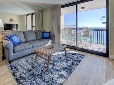 Photo for Breathtaking gulf-front condo w/ 18th floor views! 2 pools on-site!