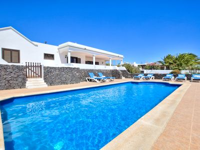Photo for Private Villa With 2 Jacuzzis, Large Private Heated Pool And Sea Views
