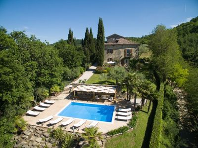 Photo for Beautiful hilltop villa, restored barn and apartment together or individually