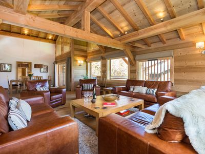Photo for Luxury 5 Ensuite Bedroom Chalet With Hot Tub and Stunning Mountain Views