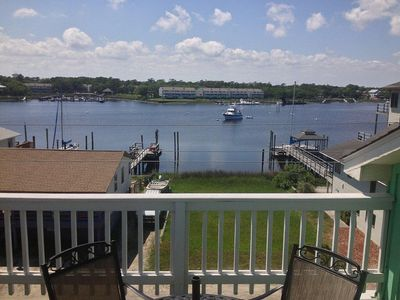 Photo for Enjoy the great views of Canal from Top Floor Deck, just short ride to Downtown Carolina Beach - TIDES 1 UNIT 3-B