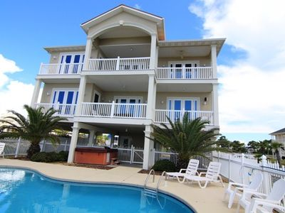 Photo for East End Estate 7 Bedrm/Pool/Hot Tub -GULF FRONT 5 King Masters, sleeps 25