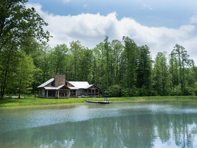 Photo for Blue Bird Cabin offers you a true Artisan Log Cabin near Nashville, IN!