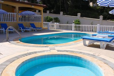 Private pool and baby pool