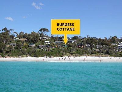 Photo for BURGESS COTTAGE Beachfront at Bay of Fires next door to Merestä Eatery