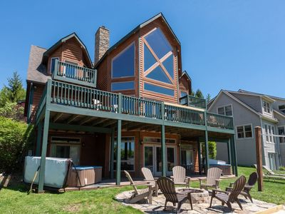 Lakefront Home w/Private Indoor Pool, Private Dock, 2 Hot Tubs, & Sauna!