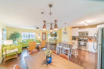 Open common areas - living, dining, kitchen