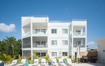 Photo for 4BR Luxury Seven Mile Beach, Sleep 10 Pool View. Ocean view from Roof Terrace