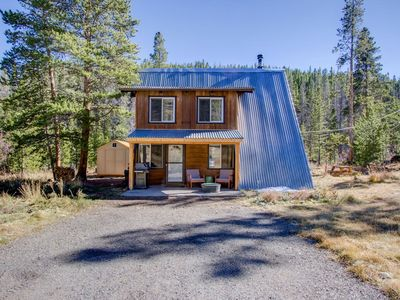 Photo for Mountain Cabin Get Away!  Mountain View, Creek, Wood Stove in Breckenridge, Colorado!