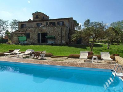Photo for Stunning private villa with private pool, WIFI, TV, patio, pets allowed, panoramic view and park...