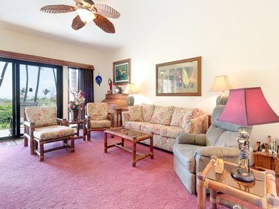 Photo for Ground Floor Ease+Island Style w/Full Kitchen, Lanai, Ceiling Fan, WiFi–Kaha Lani 105