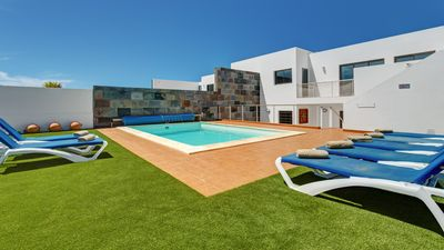 Photo for Villa with Private Heated Pool and Sea Views across to Fuerteventura