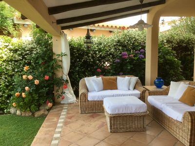 Photo for Baja Sardinia, Costa Smeralda. Delightful villa few steps from the beach