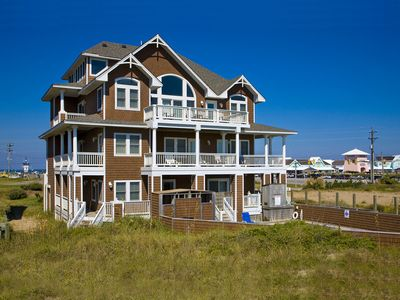 Photo for Oceanfront Hatteras Hideaway w/ Elevator, Pool, Hot Tub, Game Room, Dog-Friendly