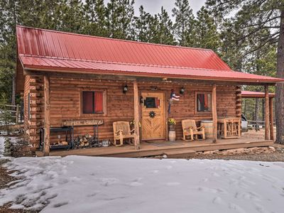Photo for Cozy Cabin on 9 Acres - 7 Mi to Angel Fire Resort!