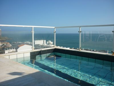 Photo for Duplex penthouse with pool and sea views of Rio Vermelho