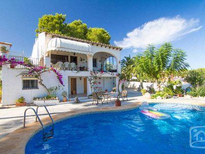 Photo for 4 bedroom Villa, sleeps 8 in Moraira with Pool and WiFi