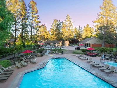 Photo for Seventh Mountain Resort- peaceful, gorgeous views, full facility access - pools, gym, tennis.