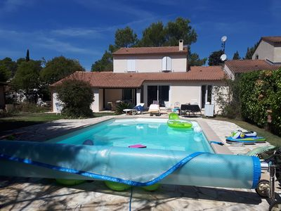 Photo for Beautiful renovated villa with individual pool, close to Cannes and beaches