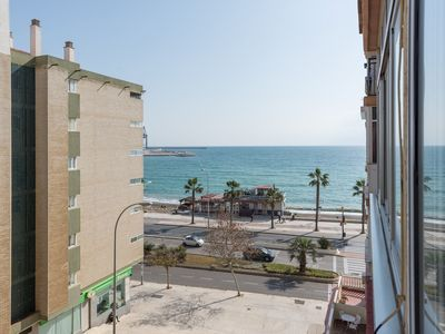 Photo for Seafront Huelin apartment in Carretera de Cádiz with WiFi & air conditioning.