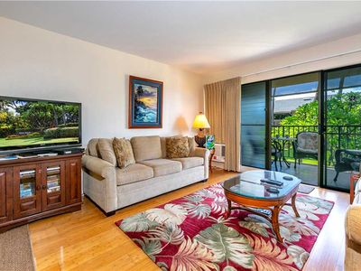Photo for New to the Market! A spacious Ocean View condo with 2 bd 2 ba at the Kihei Akahi. C202