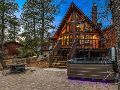 Photo for New Listing! Marvelous, Enchanting, 3BR Chalet Retreat! (Sleeps 8) Hot Tub! Fire Pit!