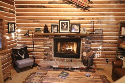 Cozy up by the fire on a winter's night