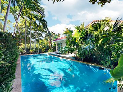 Photo for Ultra-Private 4BR El Cid Tropical Paradise w/ Pool & Luxe Courtyard, By Beach
