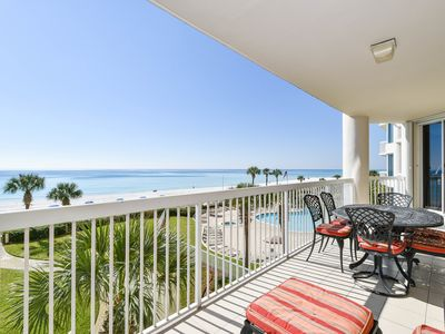 Photo for Brightly Decorated Beach Front Condo with Complimentary Beach Chair Service!😎