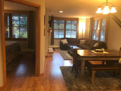 Photo for Winter Park Resort Ski in/Ski out Oversized Zephyr Corner Unit,1Bdrm/1Bath