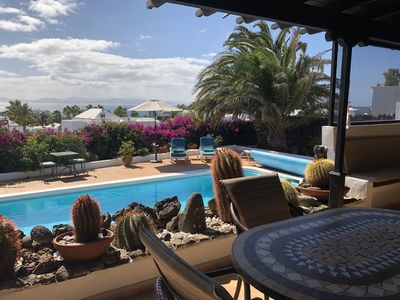 Photo for 3 Bed Villa with Heated Private Pool and Sea Views , wifi