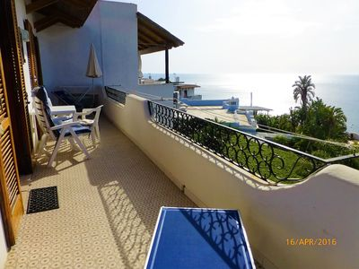 Photo for Nice apartment incl. Thermal pool use and fantastic sea view (floor)!