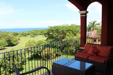 Balcony with Ocean View! Gas grill on balcony.