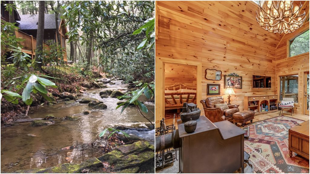 awesome north the pet ridge rentals river cabins cabin georgia ellijay ga friendly in on throughout blue