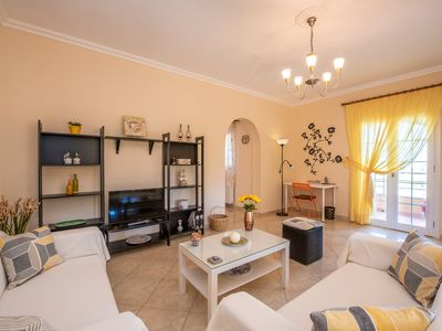 Photo for Family apartment with balcony & great views near Corfu Town