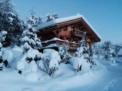 Photo for New luxury chalet close to Megeve with jacuzzi and sauna