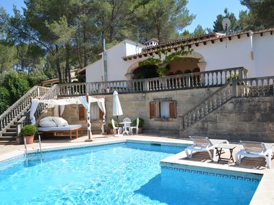 Photo for Spectacular villa, pool, BBQ, WiFi, ideal location cyclist route-Esporles