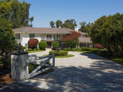 Photo for BEST LOCATION IN RANCHO SANTA FE. luxury east coast style house with Valley view