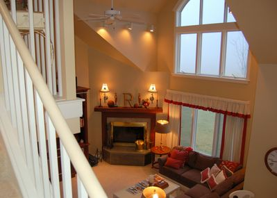 View of the Living Room from 3rd Floor stairwell - View of the Living Room from 3rd Floor stairwell