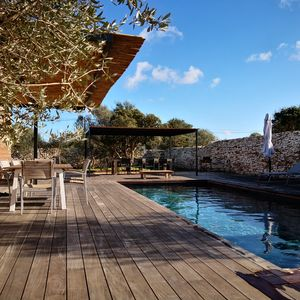 Photo for New charming town with swimming pool in the Bonifacian maquis