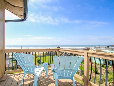 Photo for Gorgeous oceanview home w/ hot tub, 1 block to beach access - dog-friendly, too!