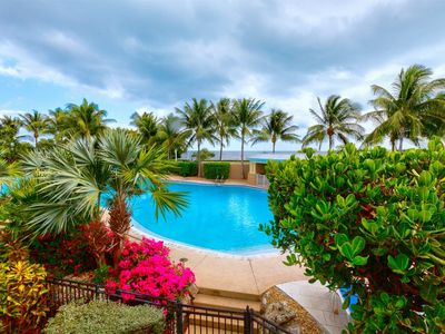 Photo for VRE 19- 48      3-bed, 3-bath tri-level townhouse with pool and oceanview!